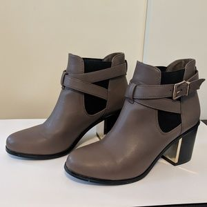 Forever21 Taupe Chelsea Boots